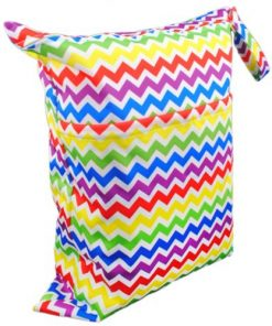 Rainbow Zig Zag Medium Wet Bag