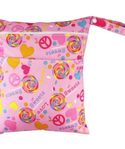 CCB035 - Sweets on Pink Medium Wet Bag