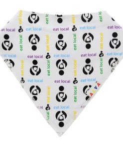 Eat Local White Bandana Bib