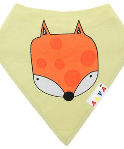 Fox Yellow Bandana Bib