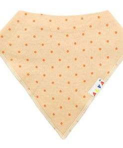 Orange Dots Bandana Bib