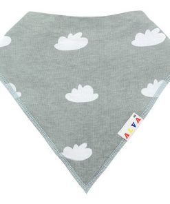 Clouds Grey Bandana Bib