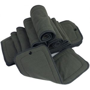 Charcoal Bamboo Insert with Snap Fastener