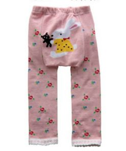 CCL007 - Pink Bunny Baby Leggings
