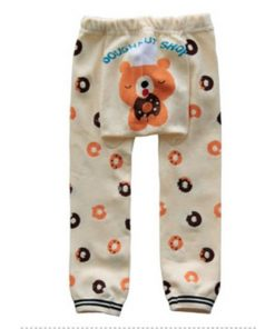CCL009 - Cream Doughnut Bear Baby Leggings