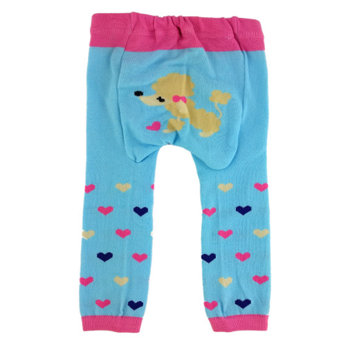 CCL018 - Blue Poodle Baby Leggings