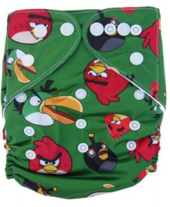Angry Birds on Green Reusable Nappy