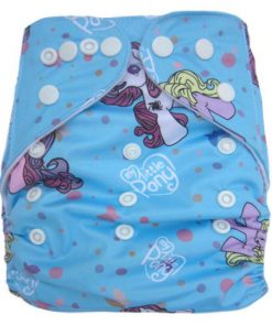 My Little Pony on Blue Reusable Nappy