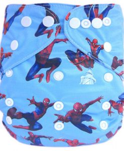 Spiderman on Blue Reusable Nappy
