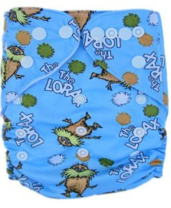 The Lorax Blue Reusable Nappy
