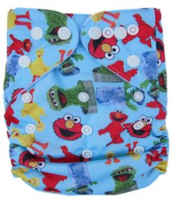 Sesame Street Blue Reusable Nappy