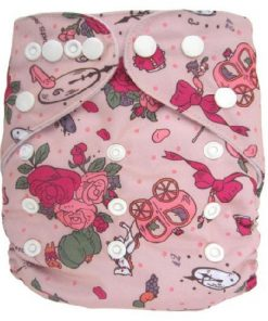 Cinderella theme Pink Reusable Nappy