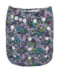 Paisley Elephant design Reusable Nappy