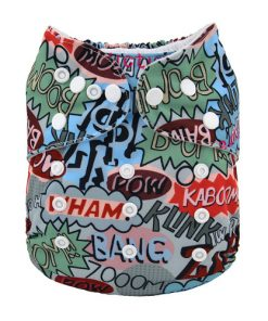 POW Comic book design Reusable Nappy