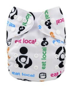 Eat Local White Reusable Nappy