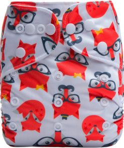Foxes on Grey Reusable Cloth Nappy
