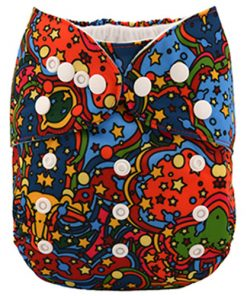 Psychedelic Stars Reusable Nappy