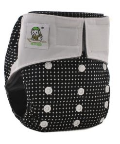 CCN185 - BTP - Coolababy - Diamonds on Black (Charcoal with MF Insert) Reusable Cloth Nappy