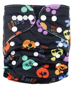 Eat Local Black Reusable Nappy