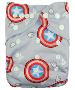 American Star on Grey Reusable Nappy