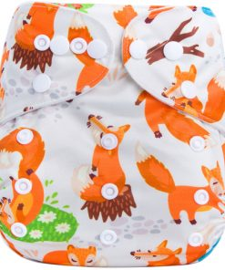 Woodland Foxes BTP reusable nappy