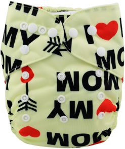 Heart Mom Design Reusable Cloth Nappy