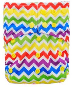 Rainbow Zig Zag Reusable Cloth Nappy