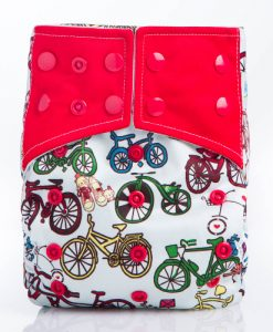 Bicycles Blue Reusable Cloth Nappy