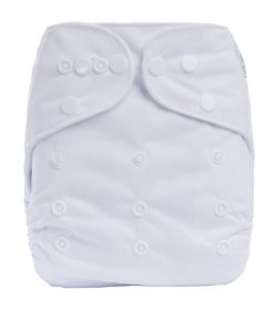 Plain White Reusable Cloth Nappy