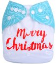 CCN311 – Merry Christmas Snowman (Positioned Print) Reusable Cloth Nappy