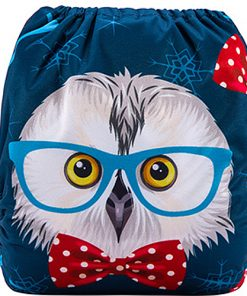 Wise Owl (Positioned Print) Reusable Cloth Nappy