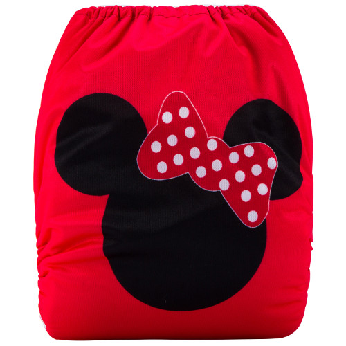 Minnie Mouse Red (Positioned Print) Reusable Cloth Nappy
