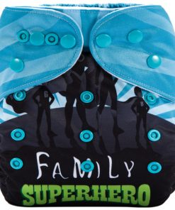 Superhero Family (Positioned Print) Reusable Cloth Nappy