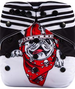 Bulldog (Positioned Print) Reusable Cloth Nappy
