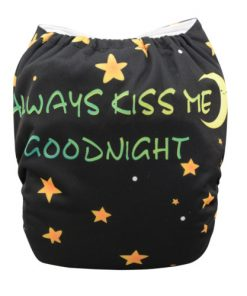 BTP - Always Kiss Me Goodnight (Positioned Print) Reusable Cloth Nappy