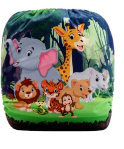 CCN335 - BTP - Jungle Animals (Positioned Print) Reusable Cloth Nappy