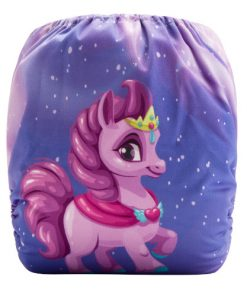 CCN336 - BTP - Pony Princess (Positioned Print) Reusable Cloth Nappy