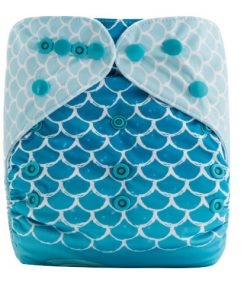 CCN354 - BTP - Mermaid (Positioned Print) Reusable Cloth Nappy