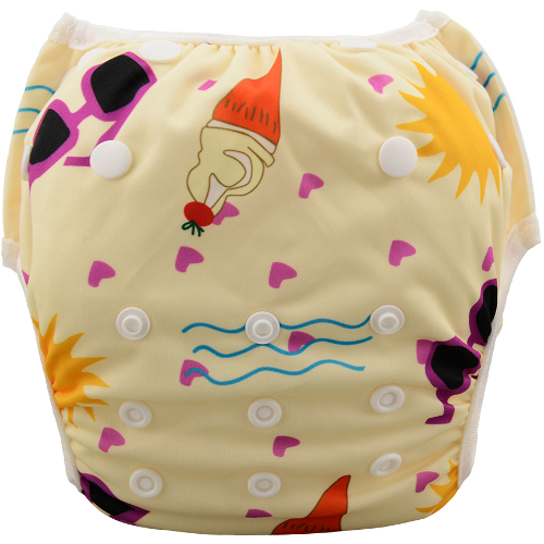 Beach themed Reusable Swim Nappy