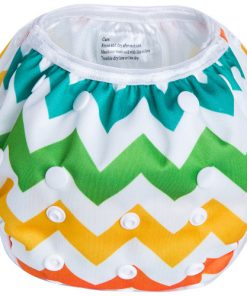 Rainbow Zig Zag Reusable Swim Nappy