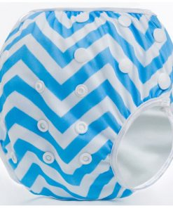 Blue Zig Zag Reusable Swim Nappy