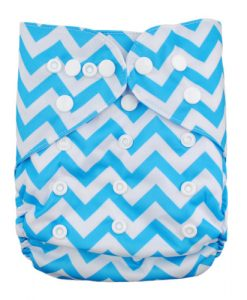 Blue Zig Zag Nappy Cover