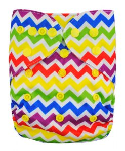 Rainbow Zig Zag Nappy Cover