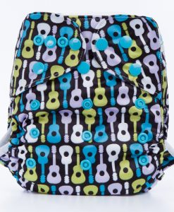 Guitars Reusable Nappy Cover